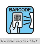 Piktogramm eines QR-Codes mit entsprechenden Scanner