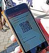Anzeige eines QR-Codes auf einem Handy